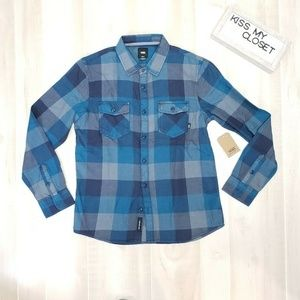 Vans Men's Flannel Plaid Shirt NWT M ~ Ei19
